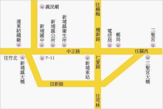 新竹縣新埔鎮衛生所位置圖