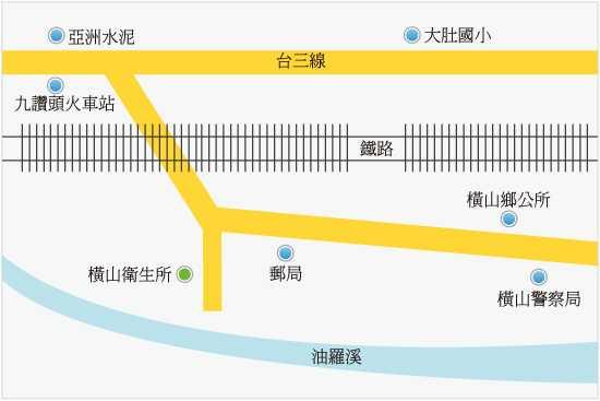 新竹縣橫山鄉衛生所位置圖