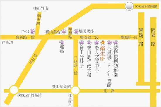 新竹縣寶山鄉衛生所位置圖
